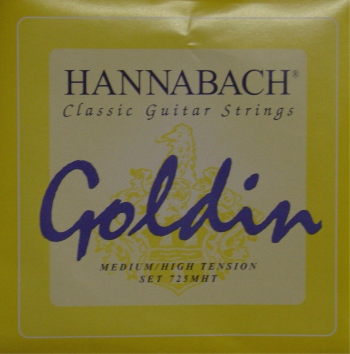 Hannabach 725 'Goldin' Konzertgitarre, medium/high tension