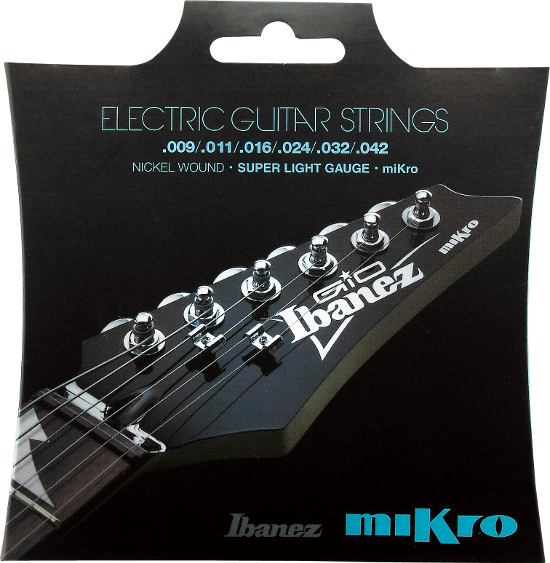 "Ibanez IEGS61MK Nickel wound Mikro (22.2"" Mensur) - regular light (010-046)"