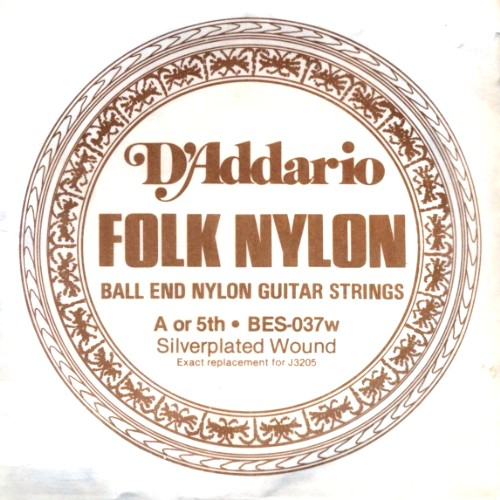 D´Addario Folk Nylon BES-037w (J3205) Folkgitarre - Ball End